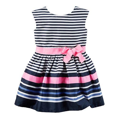 dc55a96335ee Toddler Girl Carter s Striped Sateen Dress
