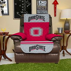 Ohio State Buckeyes Quilted Recliner Chair Cover