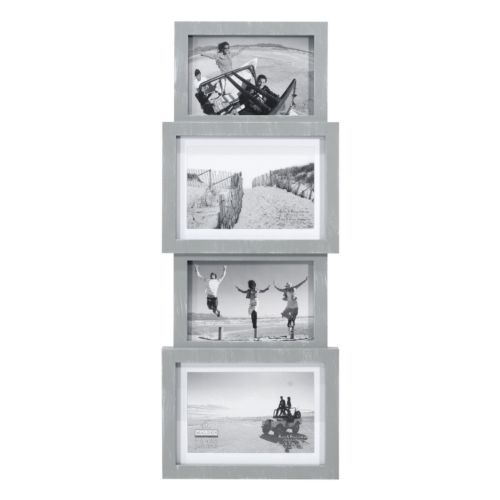 Malden Washed Gray 4-Opening Collage Frame