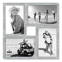 Malden Distressed Gray 4-Opening Collage Frame