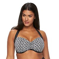 Plus Size Apt. 9® Geometric Halter Bikini Top