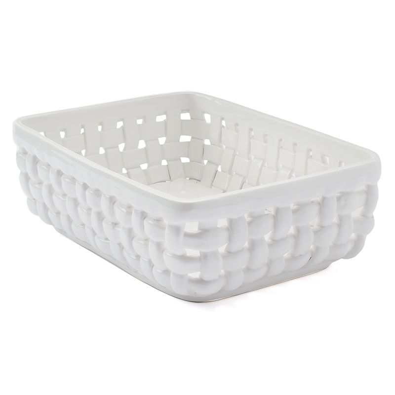 Food Network Bread Basket, White Display and store fresh bakery breads with this Food Network bread basket. Versatile design Stoneware Wipe clean 3.75 H x 11.3 W x 8 D Color: White. Gender: unisex. Age Group: adult.
