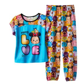 "Disney's Tsum Tsum Mickey Mouse, Pluto & Minnie Mouse ""#BFFs Love"" Pajama Set"