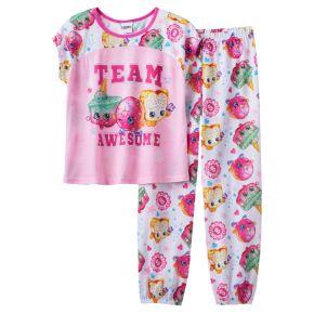 "Girls 4-12 Shopkins Ice Cream Kate, D'lish Donut & Fairy Crumbs ""Team Awesome"" Pajama Set"