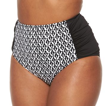 Plus Size Apt. 9® Geometric High-Waisted Scoop Bottoms