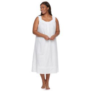 Plus Size Croft & Barrow® Pajamas: Textured Long Nightgown