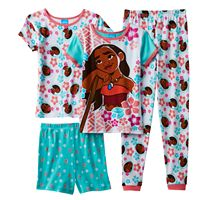 Disney's Moana Girls 4-10 Moana Floral Pajama Set