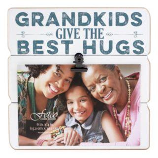 """Fetco Home Decor """"Grandkids"""" 4"""" x 6"""" Photo Clip Frame"""