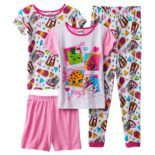 Girls 4-10 Shopkins D'lish Donut, Sneaky Wedge, Apple Blossom & Kooky Cookie Pajama Set