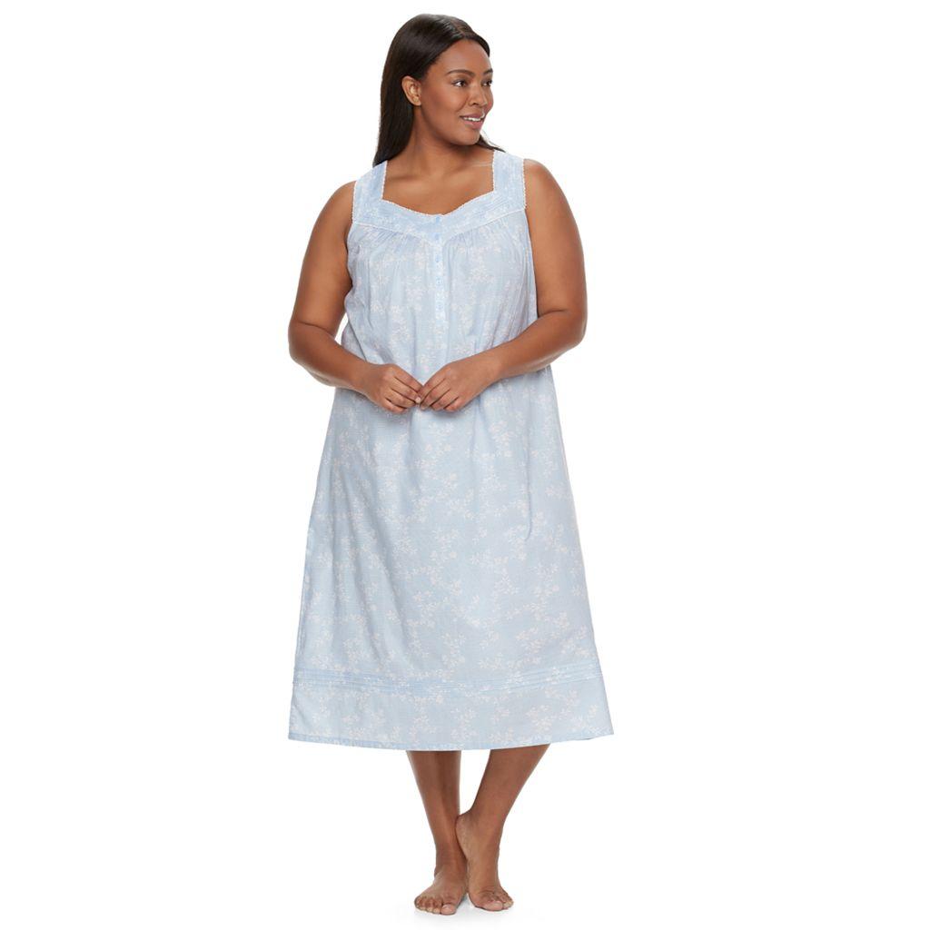 Plus Size Croft & Barrow® Pajamas: Pintuck Long Nightgown