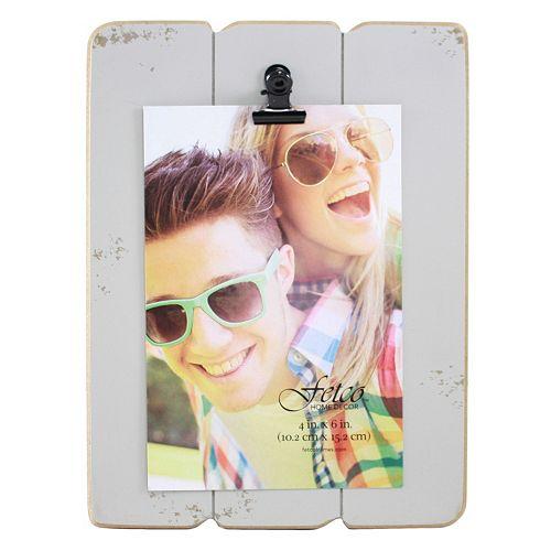 Fetco Home Decor Light Gray 4 x 6 Photo Clip Frame