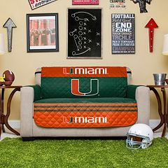 Miami Hurricanes Quilted Loveseat Cover