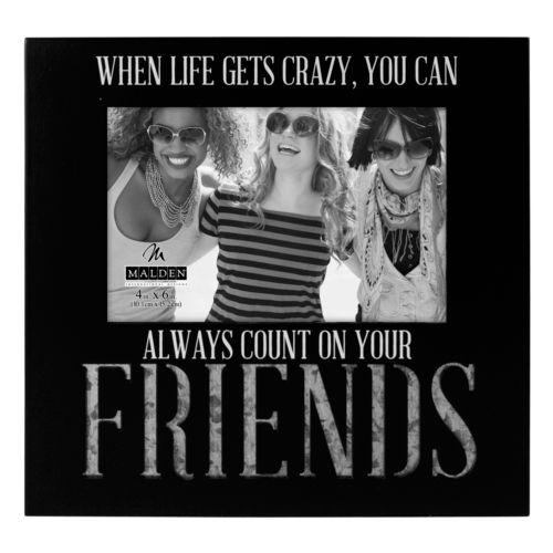 """Malden """"Friends"""" 4"""" x 6"""" Galvanized Frame"""