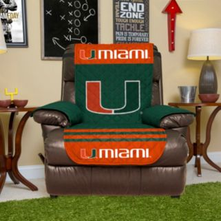 Miami Hurricanes Quilted Recliner Chair Cover