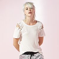 Women's JUICY Lace-Up Tee