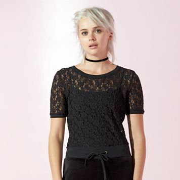 Women's JUICY Sheer Lace Top