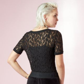 Women's JUICY Sheer Lace Top