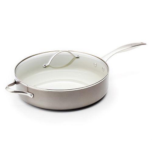 Trisha Yearwood 5-qt. Nonstick Ceramic Jumbo Saute Pan