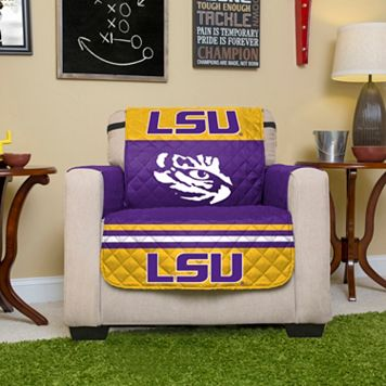 LSU Tigers Quilted Chair Cover