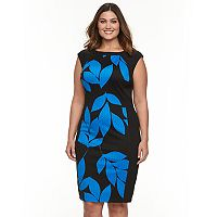 Plus Size Suite 7 Jacquard Sheath Dress