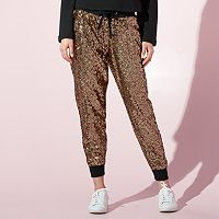 Women's JUICY Sequin Jogger Pants