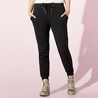 Women's JUICY French Terry Lace-Up Jogger Pants