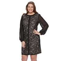 Plus Size Suite 7 Lace Shift Dress