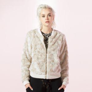 Women's JUICY Faux-Fur Bomber Jacket
