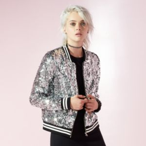Women's JUICY Sequin Bomber Jacket