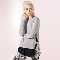 Women's JUICY Lace-Up French Terry Sweatshirt