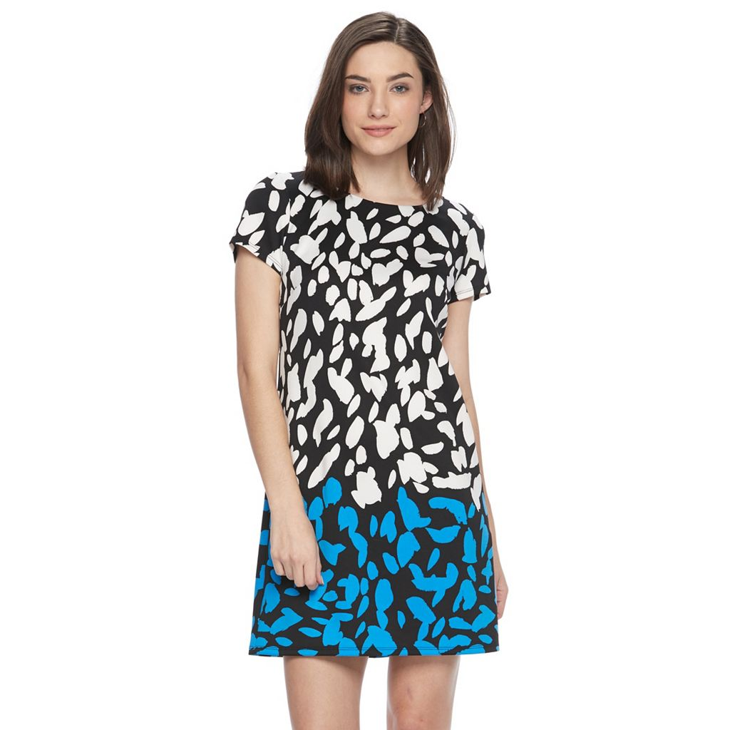 Petite Suite 7 Abstract Spot Shift Dress
