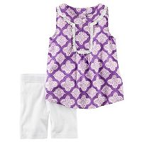 Toddler Girl Carter's Fringe Tank Top & Bike Shorts Set