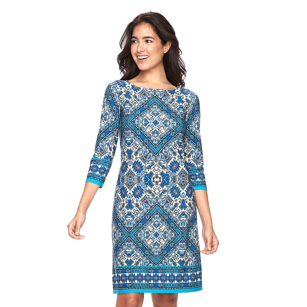 Petite Suite 7 Abstract Shift Dress