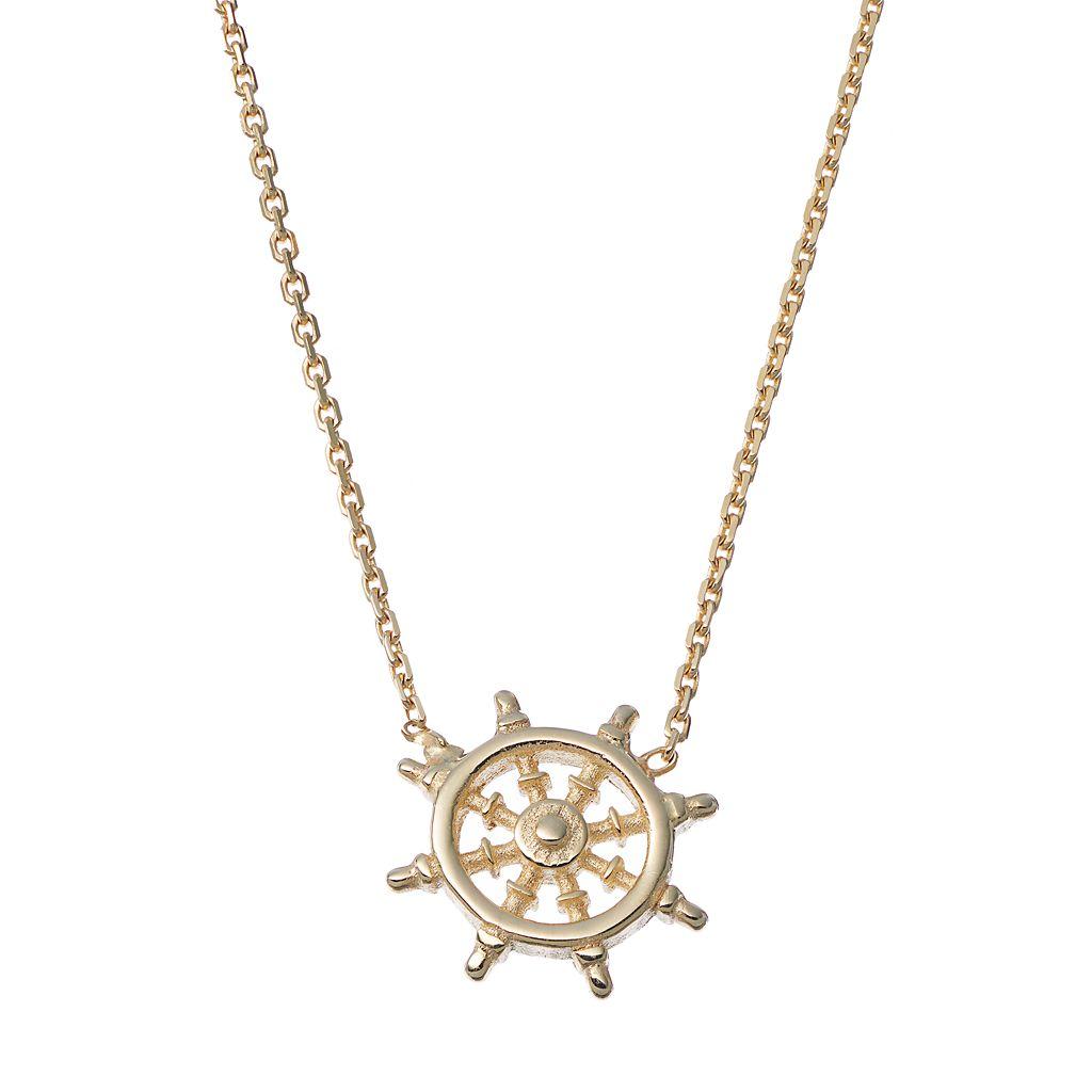 14k Gold Helm Necklace