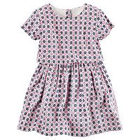 Toddler Girl Carter's Layered Patterned Sateen Dress