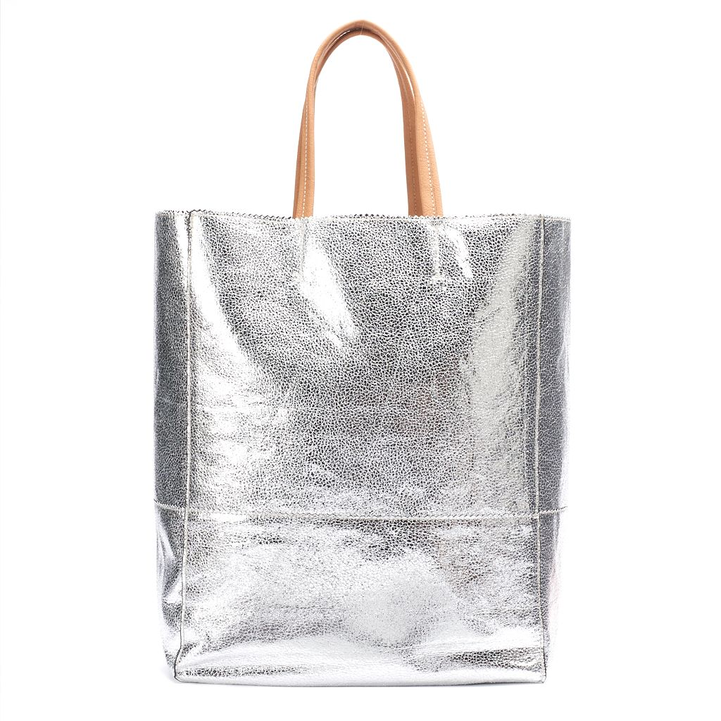 Women's JUICY Metallic Tote Bag