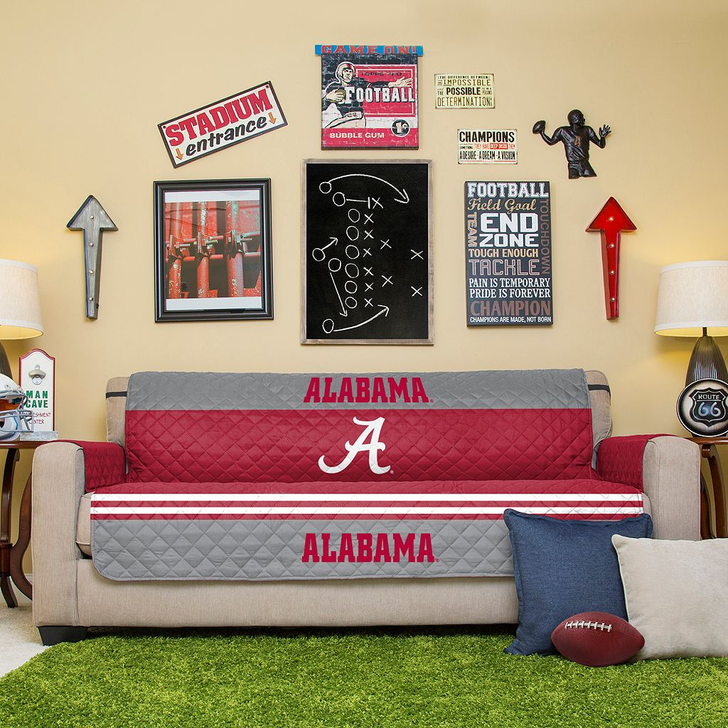 Alabama Crimson Tide Quilted Sofa Cover