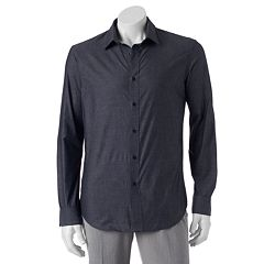 Big & Tall Apt. 9® Stretch End-On-End Button-Down Shirt