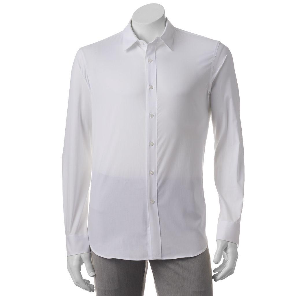 Big & Tall Apt. 9® Stretch End-On-End Button-Down Shirt