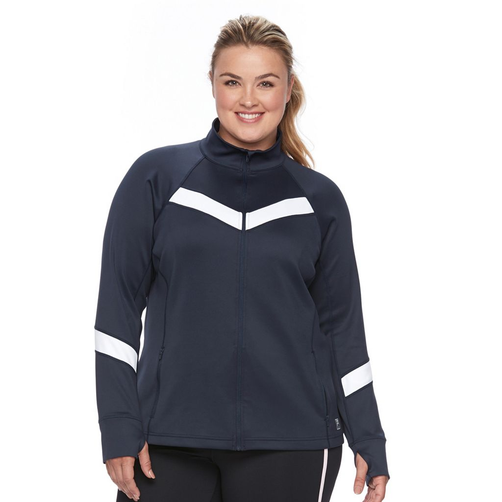 Plus Size FILA SPORT¨ Chevron Track Jacket