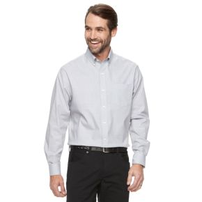 Men's Croft & Barrow® True Comfort Classic Fit Stretch Solid Button Down Shirt
