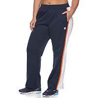 Plus Size FILA SPORT® Colorblock Straight-Leg Track Pants