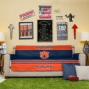 Auburn Tigers Quilted Sofa Cover