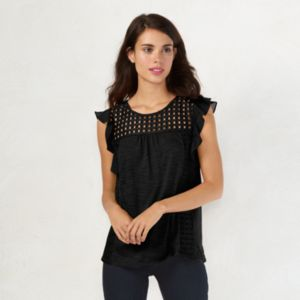 Women's LC Lauren Conrad Eyelet Top