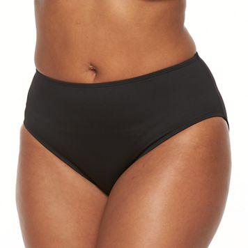 Plus Size Apt. 9® Solid Hipster Bikini Bottoms