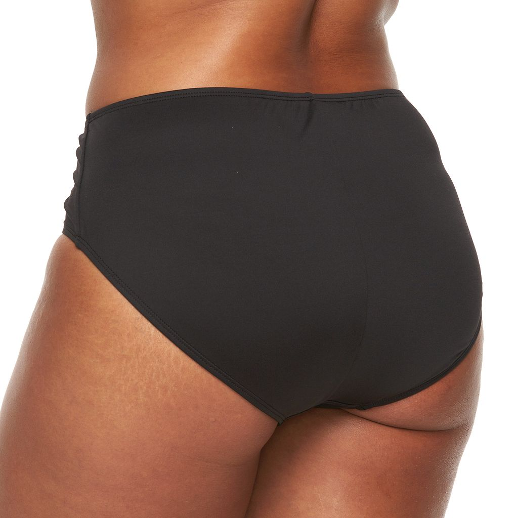 Plus Size Apt. 9® Solid Hipster Bikini Bottoms