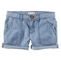 Toddler Girl Carter's Denim Roll-Cuff Shorts