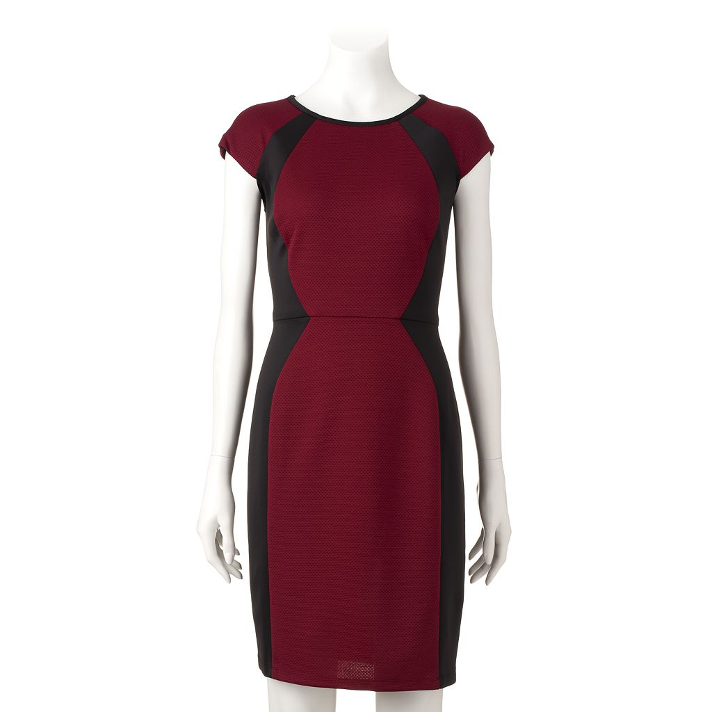 Women's Ronni Nicole Mesh Colorblock Sheath Dress