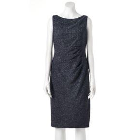 Women's Jessica Howard Ruched Glitter Sheath Dress
