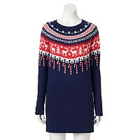 Juniors' It's Our Time Christmas Sweaterdress